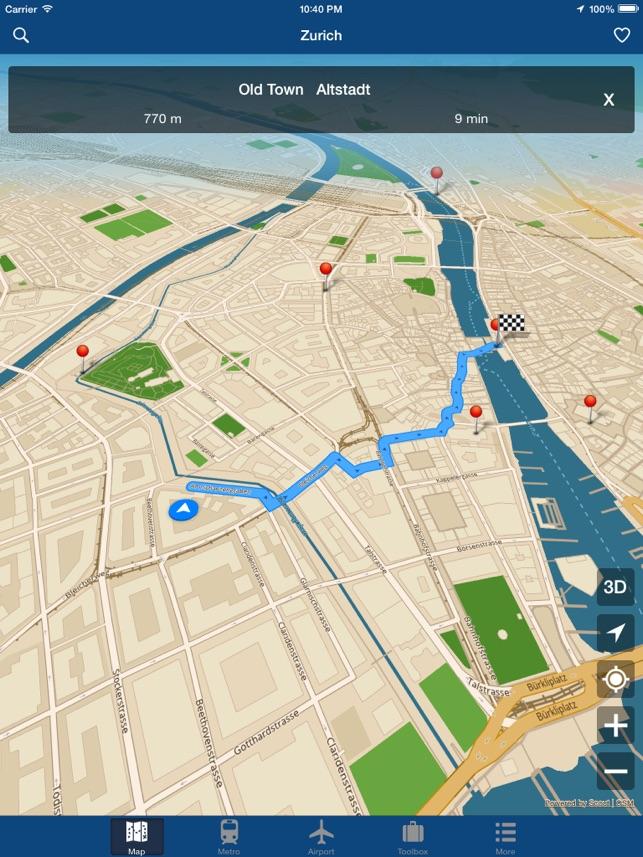 Zurich Offline Map City Metro