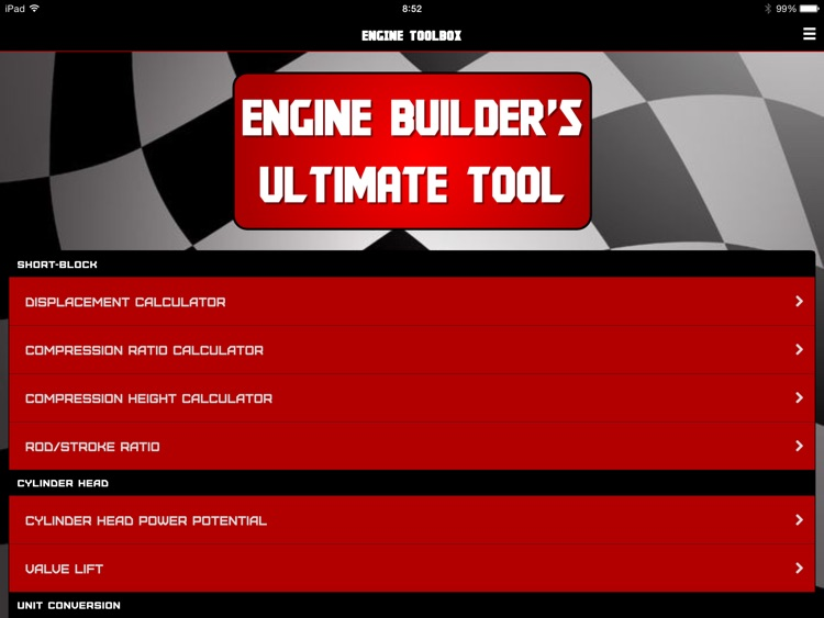 "Engine ToolBox Calculator ""for iPad"" screenshot-0"