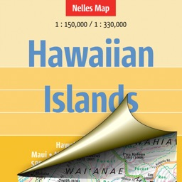 Hawaiian islands. Tourist map