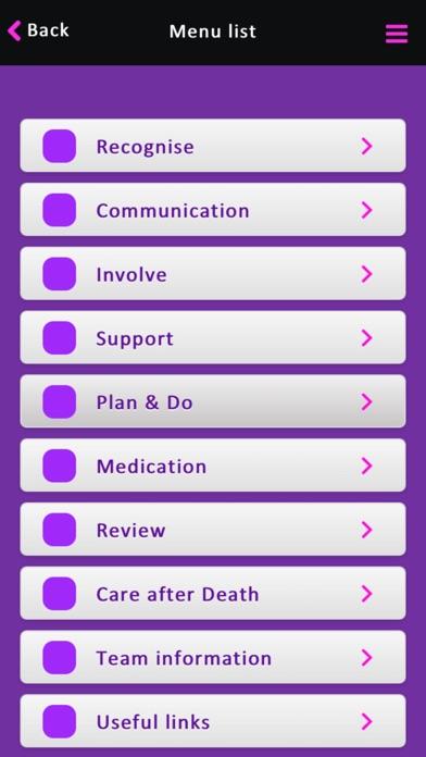 Priorities of Care screenshot two