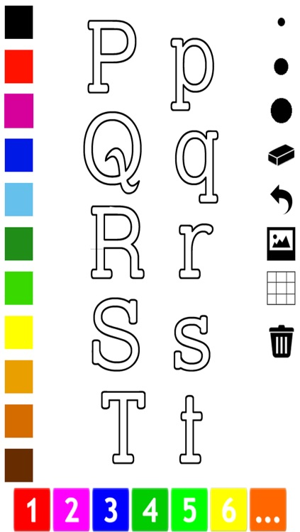 ABC Pics Coloring Book for Toddlers with the Letters of the Alphabet screenshot-3