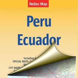 Peru, Ecuador. Tourist map.