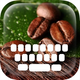 Custom Keyboard Coffee Color : & Wallpaper Themes in Love a Cup Cafe Break Collection