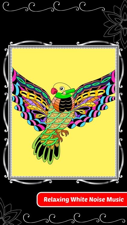 Love Birds Art Class: Adults Coloring Book screenshot-3