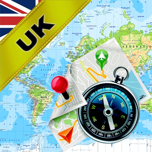 United Kingdom (UK), England, Scotland and Ireland - Offline Map & GPS Navigator