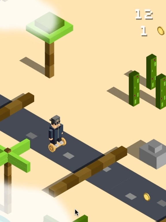 Screenshot #1 for Jumpy Desert : Hovercraft Adventures in Wild West