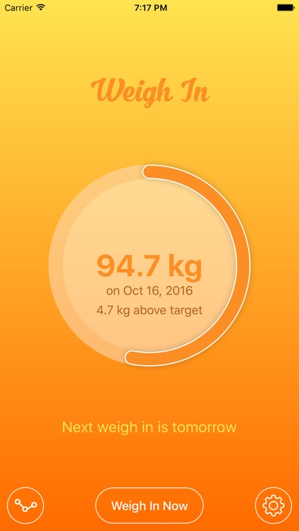 Weigh In - The simple weight tracker