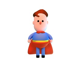 3D cute and chubby super hero cartoon character in various poses