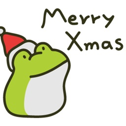 Greedy Xmas The Frog Stickers