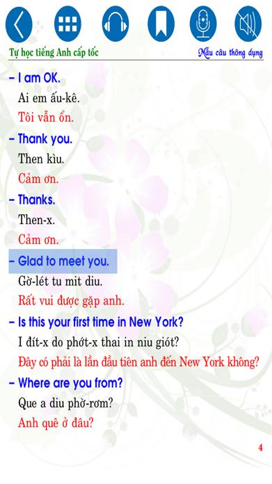 Tự học Tiếng Anh cấp tốc - Common Sentences Screenshot