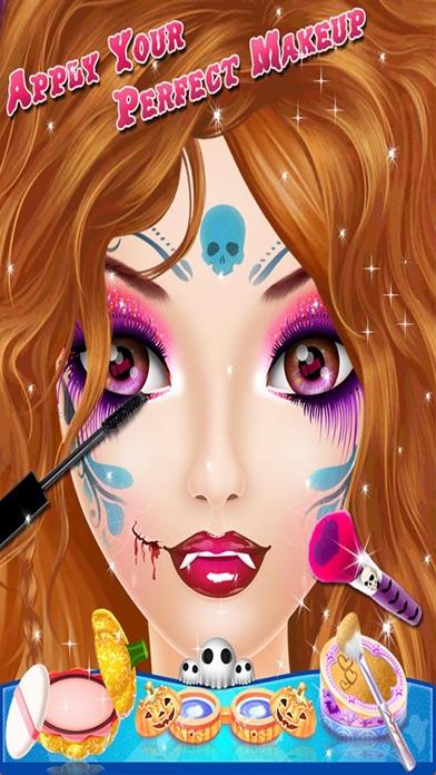 Halloween Makeup Salon - Kids game for girls screenshot two