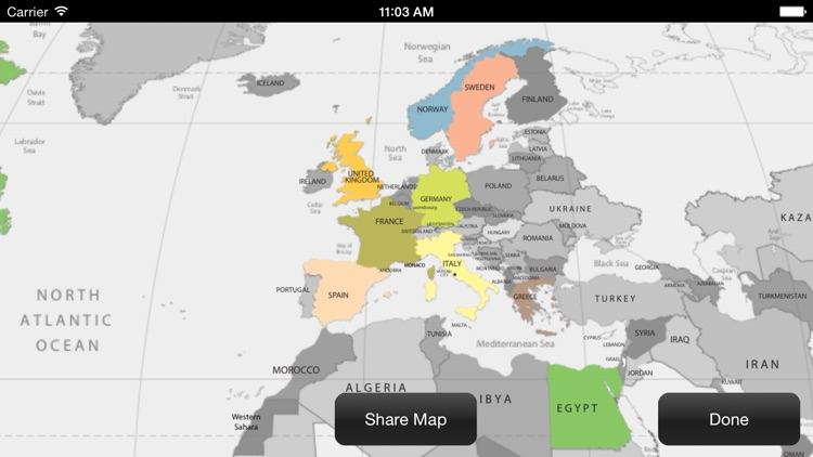 Countries Visited Map screenshot-4
