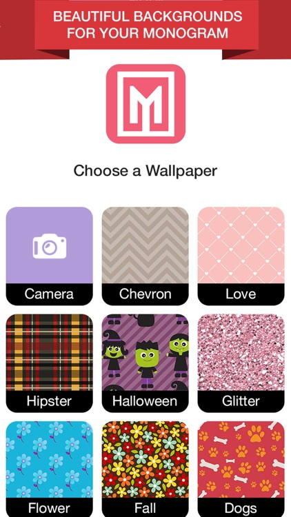 Wallpaper Maker- Make Your Own Wallpaper Monogram