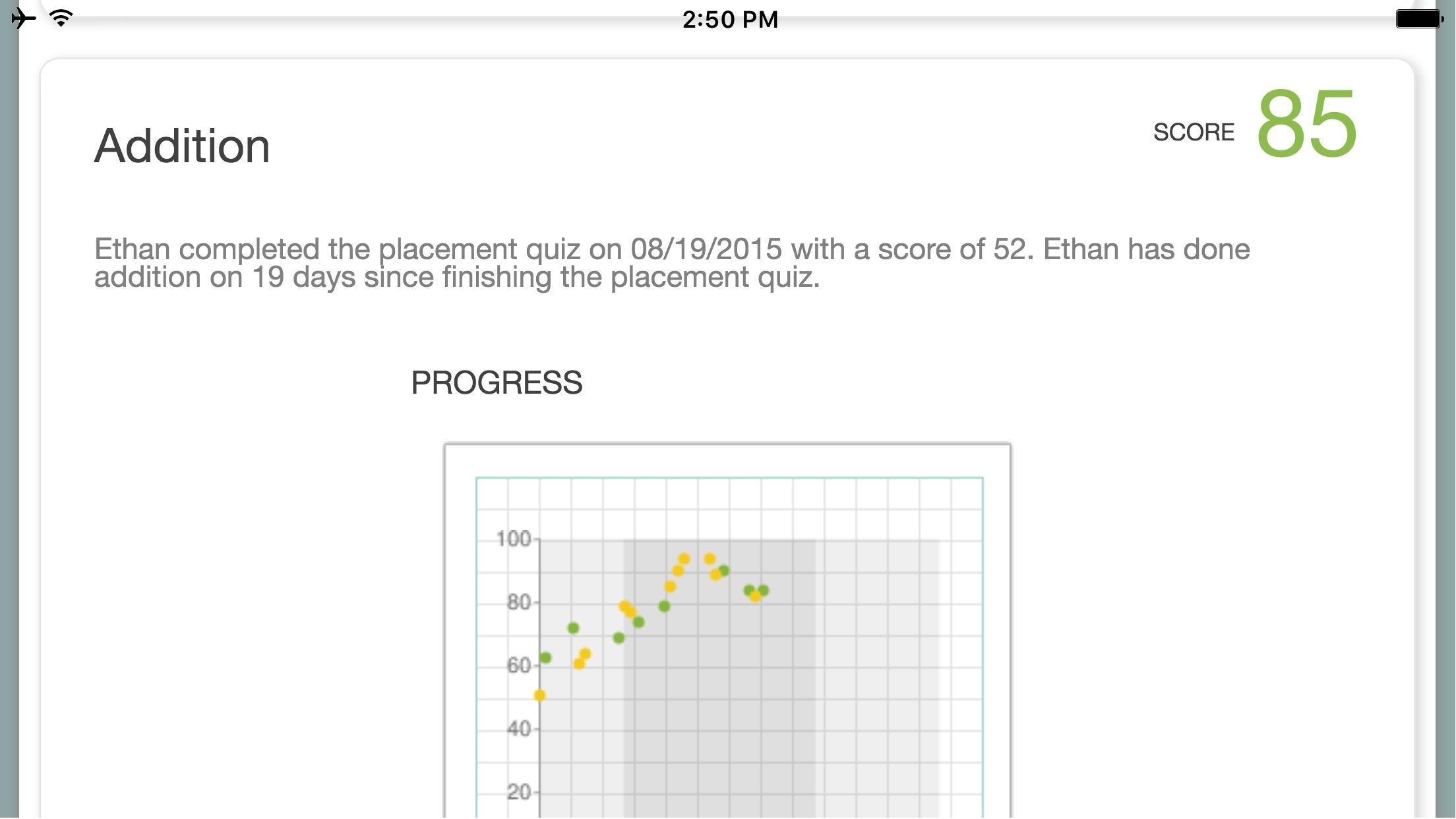XtraMath Screenshot