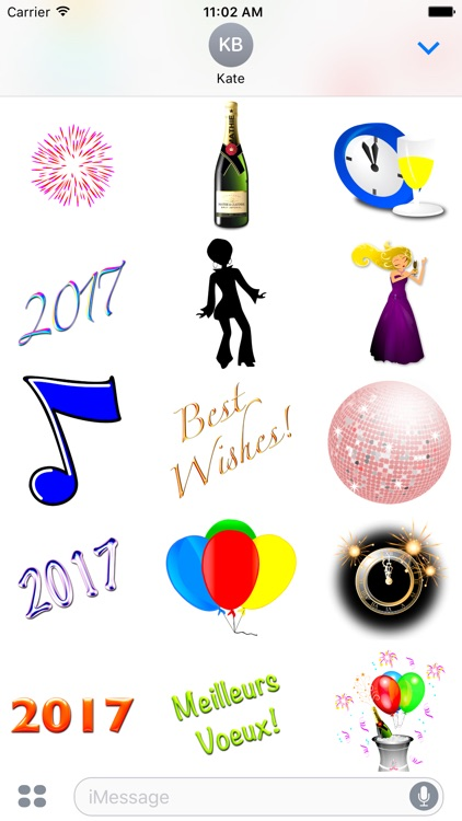 Happy New Year 2017 • 80 stickers for iMessage screenshot-4