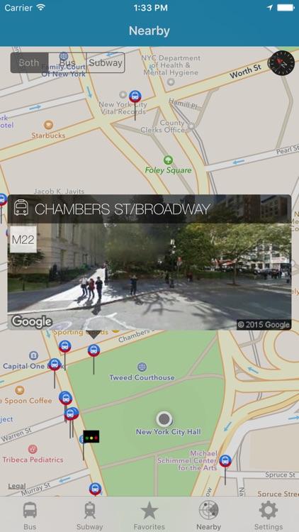 NY Subway & Bus - New York City (NYC) MTA Realtime Transit Tracker and Map screenshot-4