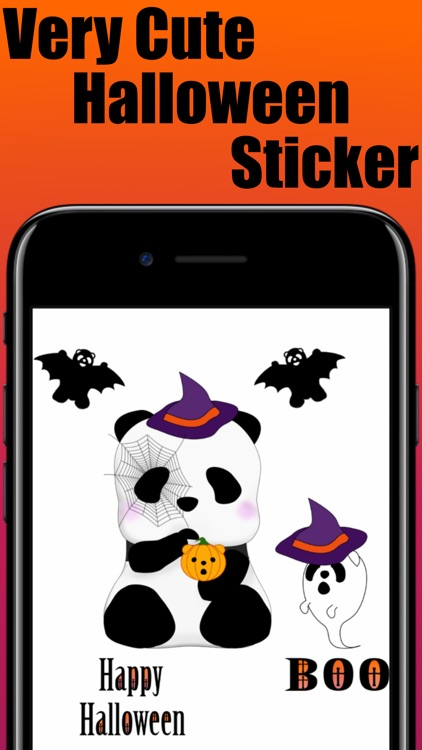 Panda in Halloween - cute sticker