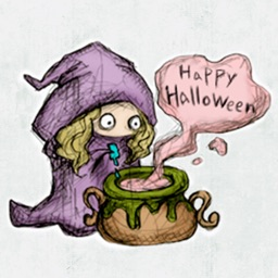 Happy Halloween Witch Stickers