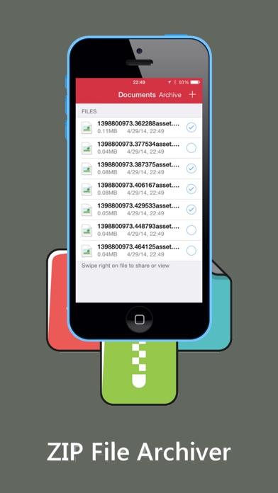 ZIP ZIPの解凍ダウンロードしArchiverおよびツールのスクリーンショット1