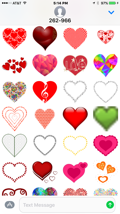 Hearts and Love Stickers screenshot two