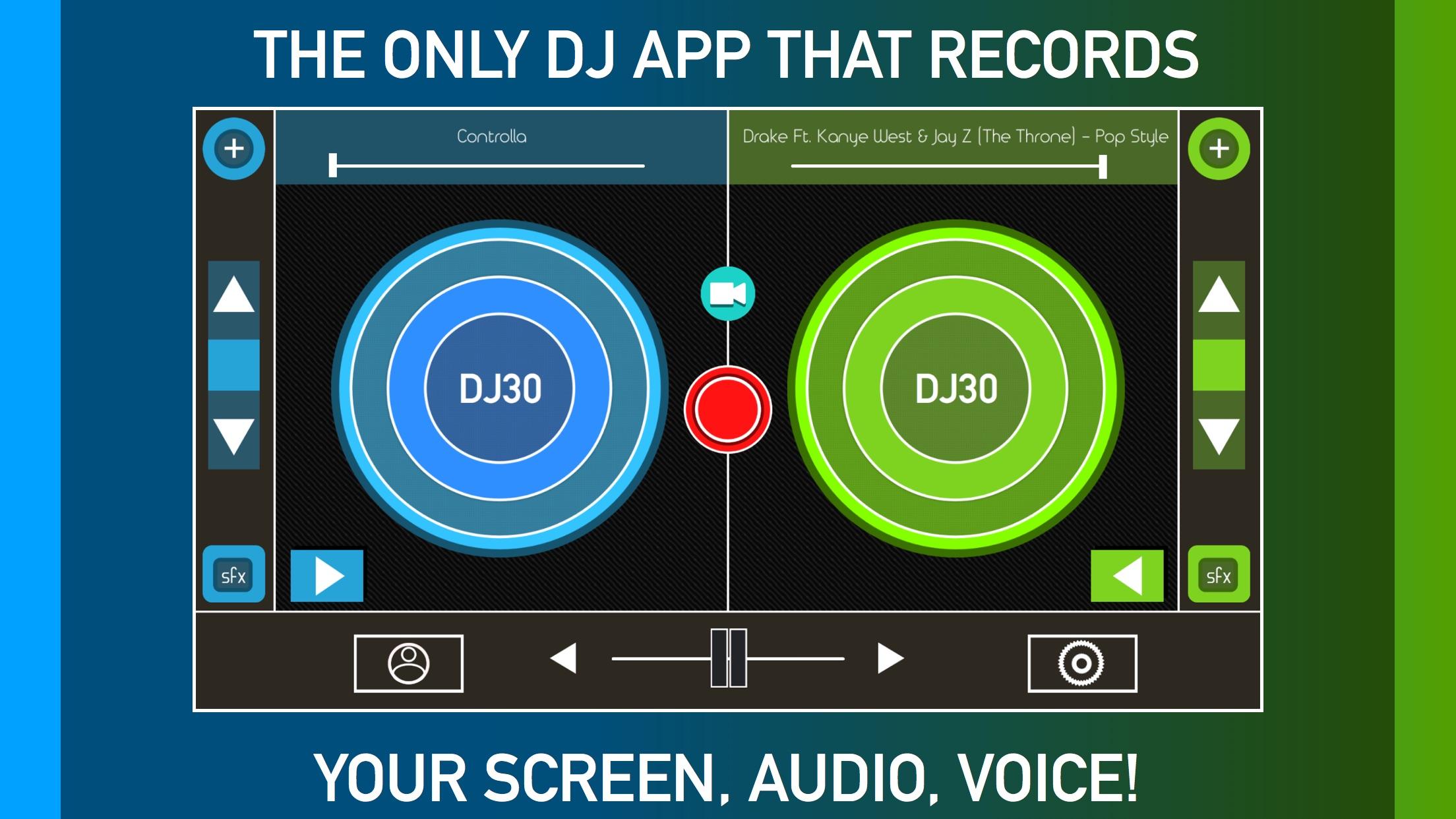 DJ Record Screen Music & Voice Screenshot