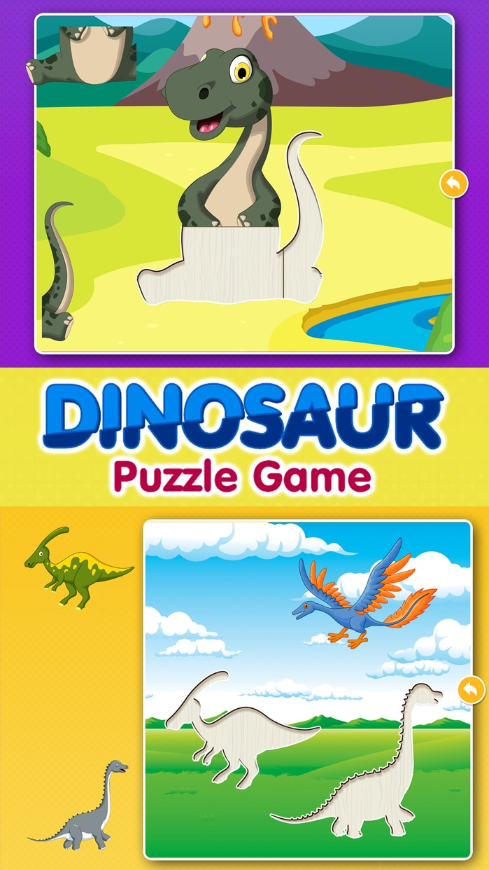 Kids Dinosaur Puzzle Games: Toddlers Free Puzzles Screenshot