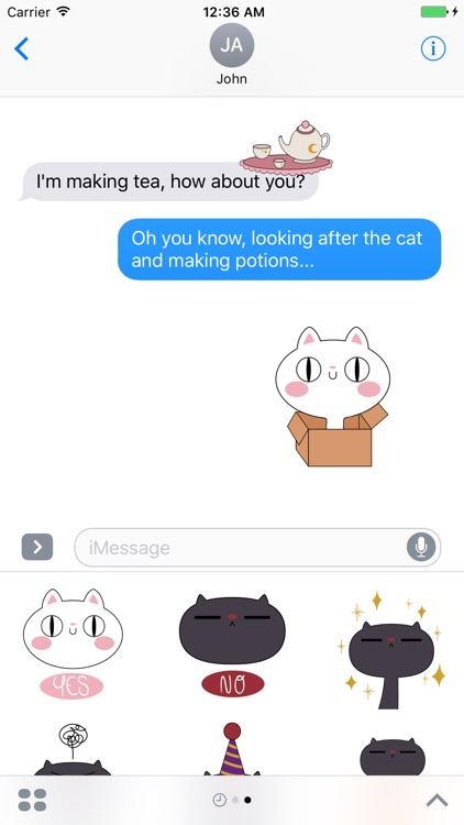 Potion Bakery - cats and her owner