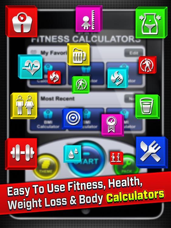 9+ in 1 : Fitness Calculators HD screenshot-3