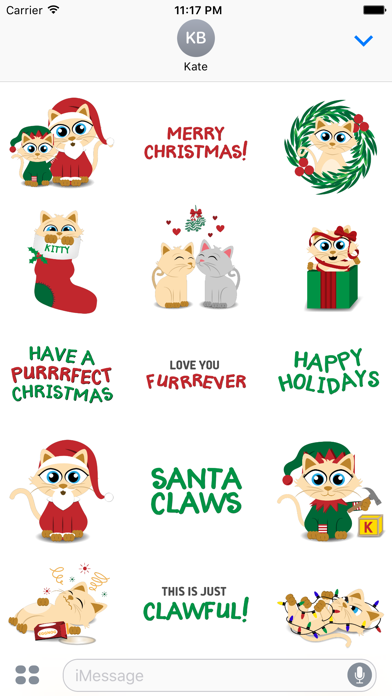 Christmas Kitties Sticker Pack screenshot one