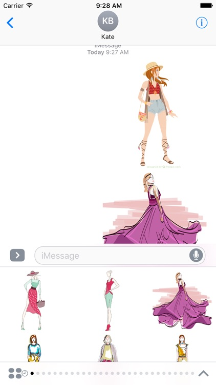Fashion Stickers For iMessage