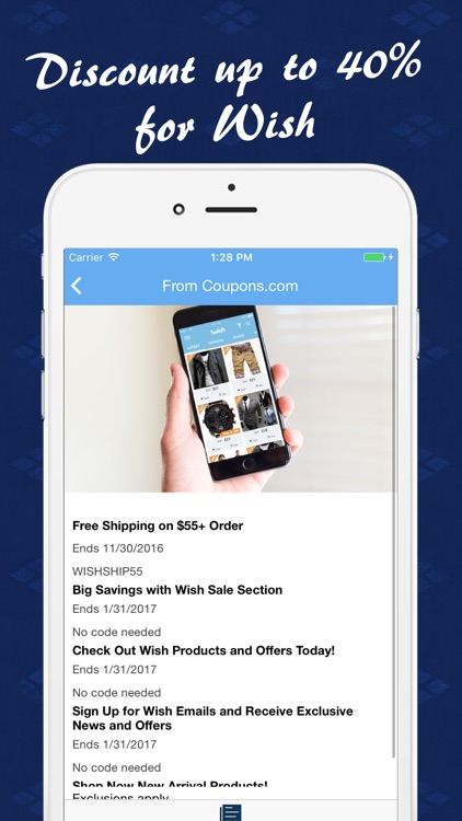 Coupon code for wish com