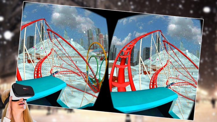 VR - Winter Tourist Roller Coaster Simulator Free