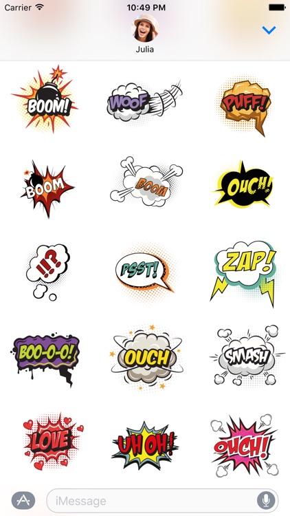 Poof! Comics Stickers
