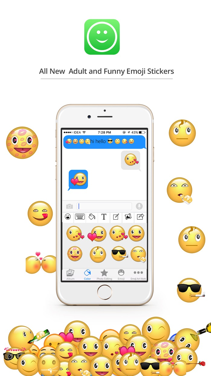 Stickers App Funny Text Moji for iMessage & WeChat Screenshot