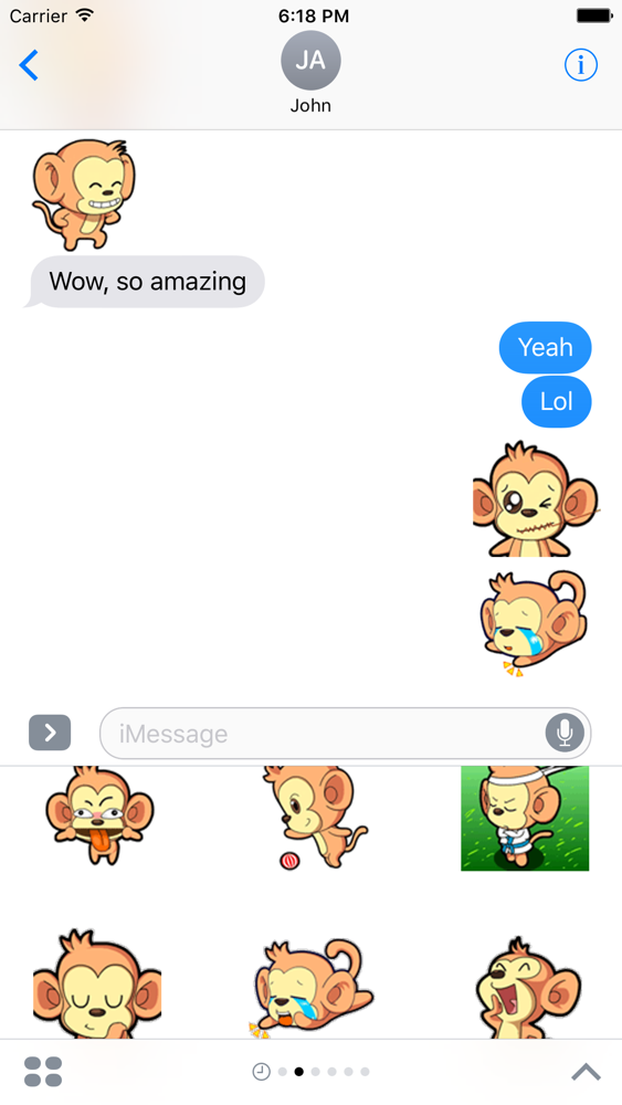 Naughty Monkey Sticker Pack App for iPhone - Free Download