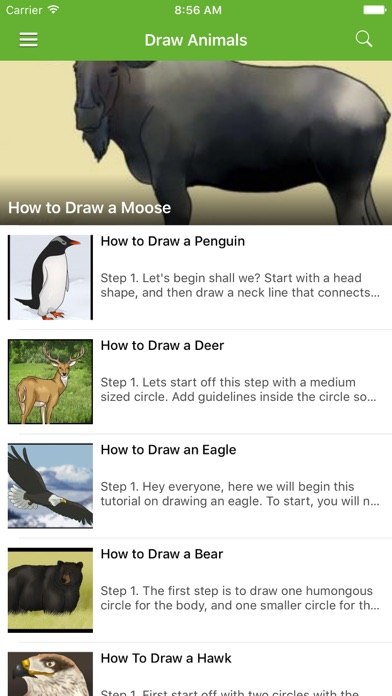 How To Draw Animals - 100% FREE screenshot one