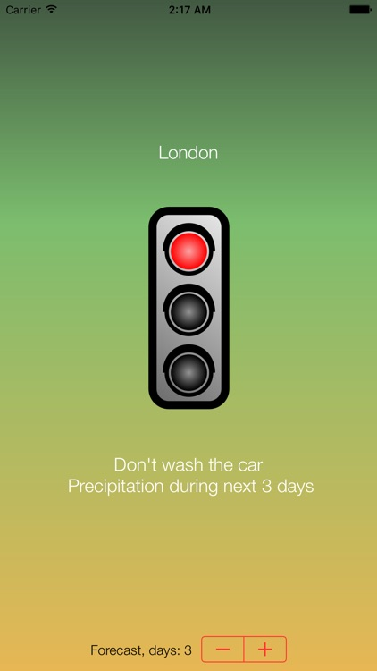 Wash the car? - analyzes the local weather forecast and tells you if now is a good time to wash your car