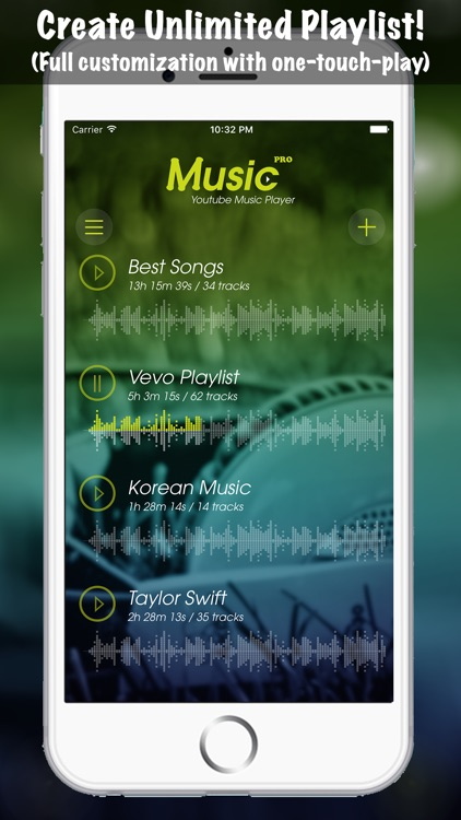 Music Pro Background Player for YouTube Video - Best YT Audio Converter and Song Playlist Editor screenshot-3