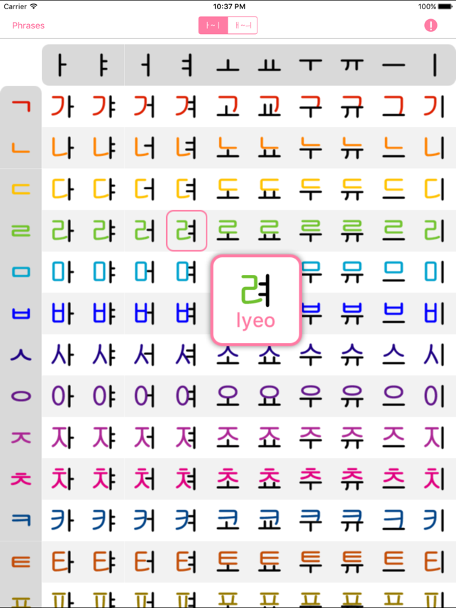 how to learn korean letters