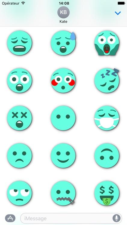 TURQUOISE Emoji • Stickers for iMessage screenshot-3