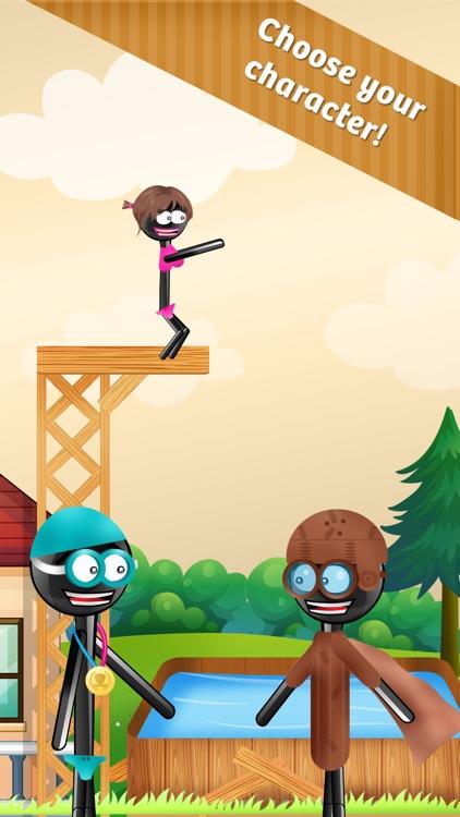Stickman High Diving - Touch, Jump & Flip! screenshot-3