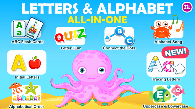 Letter Quiz, Alphabet & ABC Tracing app for kids on the App