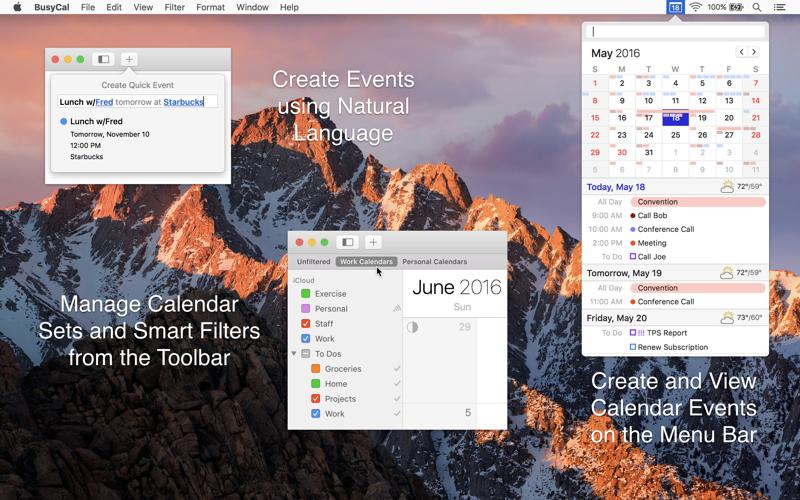 BusyCal: Calendar & Reminders Screenshots