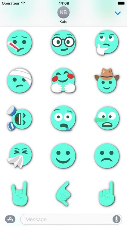TURQUOISE Emoji • Stickers for iMessage screenshot-4