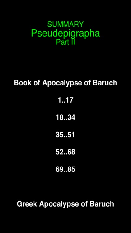 Summary Pseudepigrapha Books (part-2)