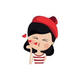Emotion Girl Sticker for iMessage
