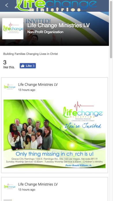 Life Change Ministries - LV screenshot one