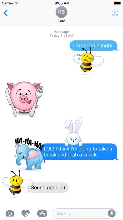 Cute Animals Sticker Pack screenshot-3