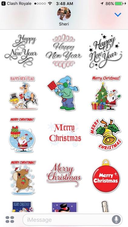 Mega Christmas Sticker Pack screenshot-3