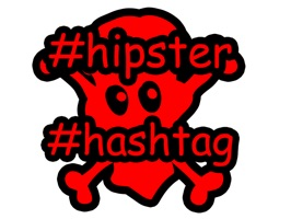 Hipster Hashtag is a useful expressive set of stickers
